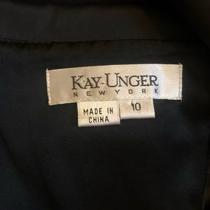 Kay Unger Dresses - Kay Unger Black Satin Cocktail Dress, size 10